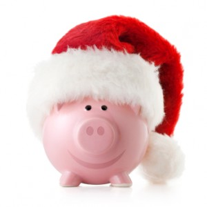 The Dividend Pig Dressed Up as Santa Claus