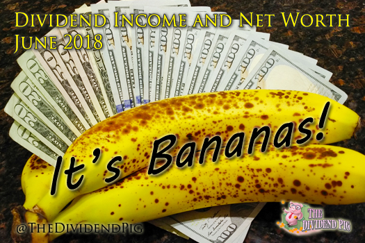 This month's dividend income report is bananas ;)